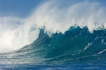 Waves, North Shore, Oahu, Hawaii Stock Photo - Premium Royalty-Free, Code: 600-01030164