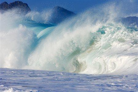 Waves, North Shore, Oahu, Hawaii Stock Photo - Premium Royalty-Free, Code: 600-01030165