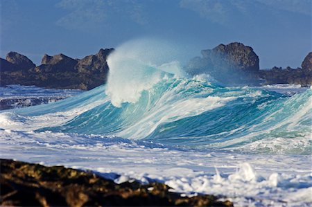 Waves, North Shore, Oahu, Hawaii Stock Photo - Premium Royalty-Free, Code: 600-01030162