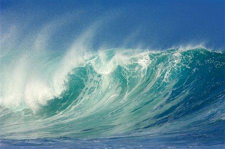 Waves, North Shore, Oahu, Hawaii Stock Photo - Premium Royalty-Free, Code: 600-01030163