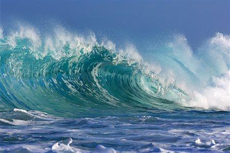 Waves, North Shore, Oahu, Hawaii Stock Photo - Premium Royalty-Free, Code: 600-01030176