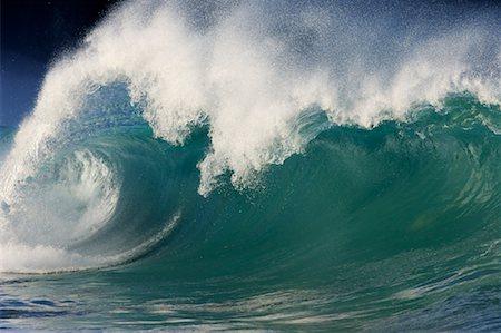 Waves, North Shore, Oahu, Hawaii Stock Photo - Premium Royalty-Free, Code: 600-01030172