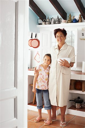 preteen thong - Grandmother and Granddaughter in Kitchen Stock Photo - Premium Royalty-Free, Code: 600-01043333