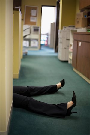 Woman's Legs in Office Stock Photo - Premium Royalty-Free, Code: 600-01083650