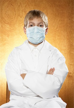 Boy Dressed as Doctor Stock Photo - Premium Royalty-Free, Code: 600-01119940