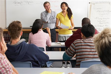 Student Giving Presentation to Class Stock Photo - Premium Royalty-Free, Code: 600-01112314