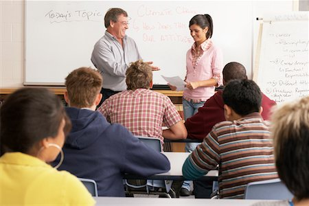 Student Giving Presentation to Class Stock Photo - Premium Royalty-Free, Code: 600-01112317