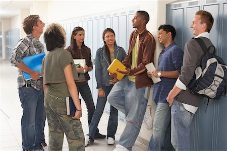 student fighting - Students Talking in Hallway Stock Photo - Premium Royalty-Free, Code: 600-01112325
