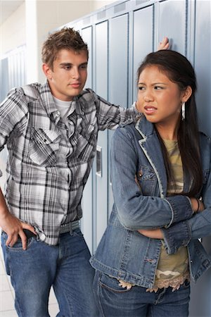 student fighting - Couple Fighting at School Stock Photo - Premium Royalty-Free, Code: 600-01112353