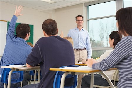 Students and Teacher in Classroom Stock Photo - Premium Royalty-Free, Code: 600-01112673