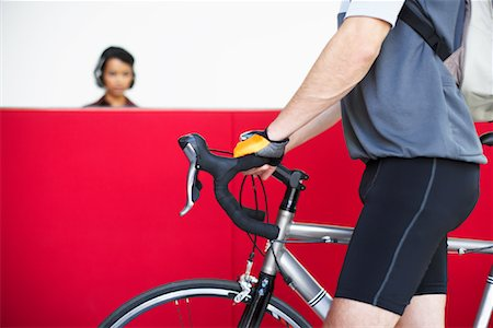 Bike Courier Stock Photo - Premium Royalty-Free, Code: 600-01124127