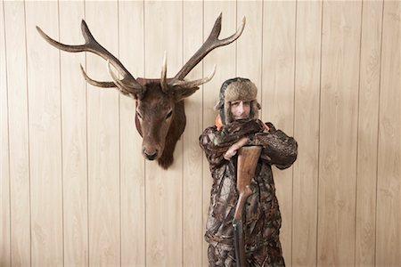 deer hunt - Portrait of Hunter Stock Photo - Premium Royalty-Free, Code: 600-01124347