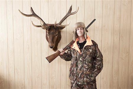 deer hunt - Portrait of Hunter Stock Photo - Premium Royalty-Free, Code: 600-01124348