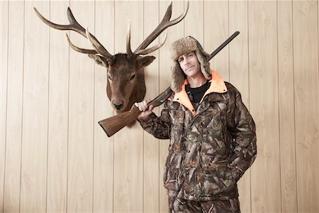 deer hunt - Portrait of Hunter Stock Photo - Premium Royalty-Free, Code: 600-01124349