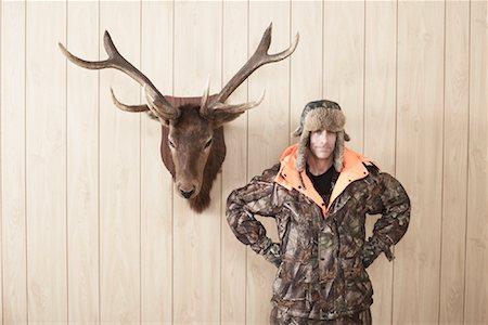 deer hunt - Portrait of Hunter Stock Photo - Premium Royalty-Free, Code: 600-01124340