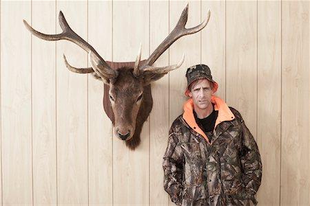 deer hunt - Portrait of Hunter Stock Photo - Premium Royalty-Free, Code: 600-01124343