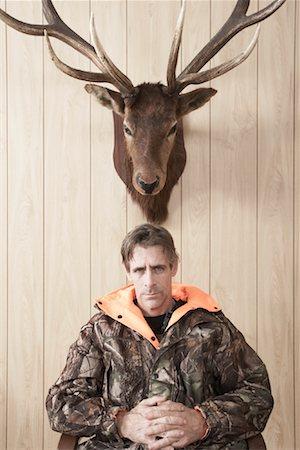 deer hunt - Portrait of Hunter Stock Photo - Premium Royalty-Free, Code: 600-01124354