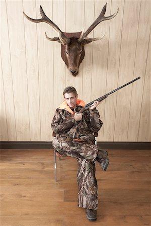 deer hunt - Portrait of Hunter Stock Photo - Premium Royalty-Free, Code: 600-01124350