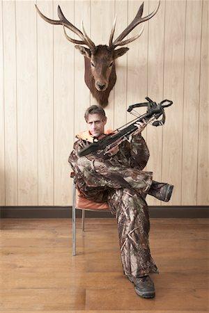 deer hunt - Portrait of Hunter Stock Photo - Premium Royalty-Free, Code: 600-01124352