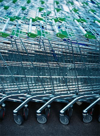empty shopping cart - Grocery Carts Stock Photo - Premium Royalty-Free, Code: 600-01120631