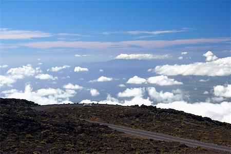 road landscape - Car Driving on Mountain Road, Big Island, Hawaii, USA Stock Photo - Premium Royalty-Free, Code: 600-01164135