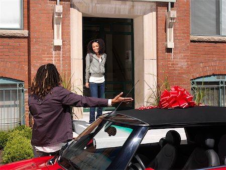 Man Giving Woman New Car Stock Photo - Premium Royalty-Free, Code: 600-01164718