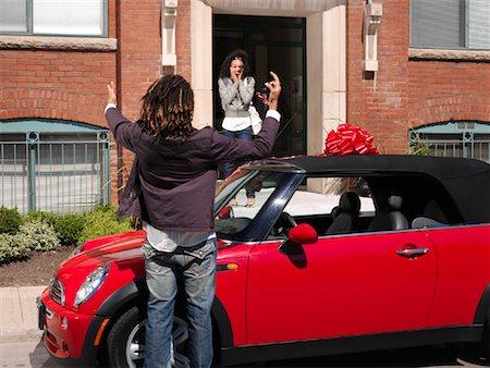 Man Giving Woman New Car Stock Photo - Premium Royalty-Free, Code: 600-01164719