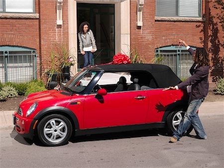 Man Giving Woman New Car Stock Photo - Premium Royalty-Free, Code: 600-01164720