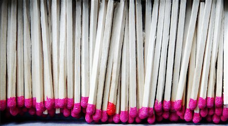 Close-Up of Wooden Matches Stock Photo - Premium Royalty-Free, Code: 600-01163223