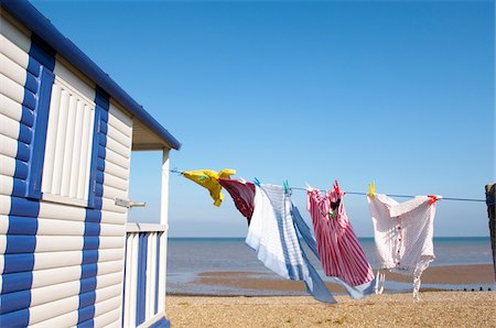 quaint - Clothesline at Beach House Stock Photo - Premium Royalty-Free, Code: 600-01173515