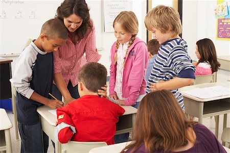 simsearch:600-01184690,k - Students and Teacher in Classroom Stock Photo - Premium Royalty-Free, Code: 600-01184686