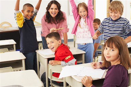 simsearch:600-01184690,k - Students and Teacher in Classroom Stock Photo - Premium Royalty-Free, Code: 600-01184687