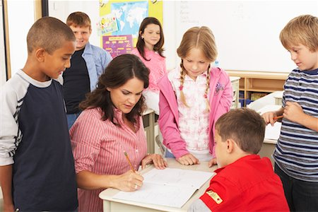 simsearch:600-01184690,k - Students and Teacher in Classroom Stock Photo - Premium Royalty-Free, Code: 600-01184688