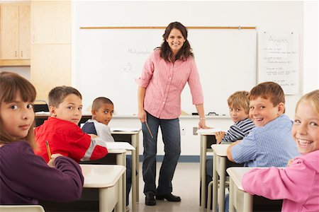 simsearch:600-01184690,k - Students and Teacher in Classroom Stock Photo - Premium Royalty-Free, Code: 600-01184695