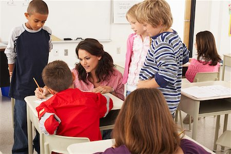 simsearch:600-01184690,k - Students and Teacher in Classroom Stock Photo - Premium Royalty-Free, Code: 600-01184702