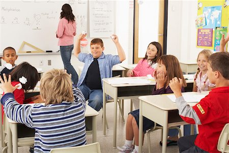 Students and Teacher in Classroom Stock Photo - Premium Royalty-Free, Code: 600-01184703