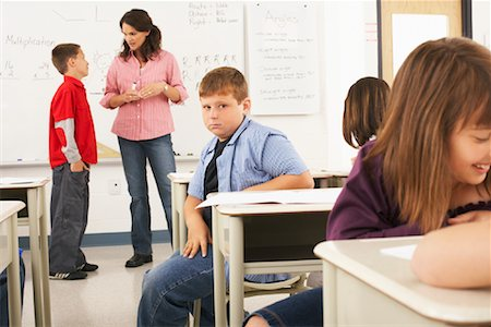 simsearch:600-01184690,k - Students and Teacher in Classroom Stock Photo - Premium Royalty-Free, Code: 600-01184712