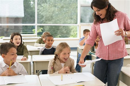 Students and Teacher in Classroom Stock Photo - Premium Royalty-Free, Code: 600-01184724