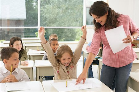 Students and Teacher in Classroom Stock Photo - Premium Royalty-Free, Code: 600-01184725