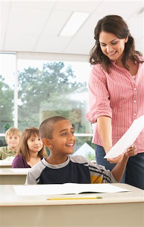 Students and Teacher in Classroom Stock Photo - Premium Royalty-Free, Code: 600-01184720