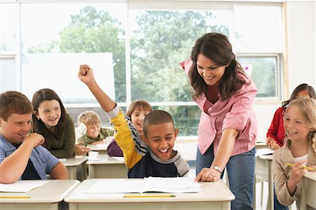 Students and Teacher in Classroom Stock Photo - Premium Royalty-Free, Code: 600-01184721
