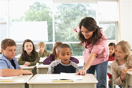 Students and Teacher in Classroom Stock Photo - Premium Royalty-Free, Code: 600-01184722