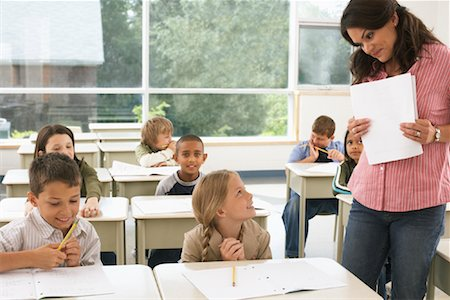 Students and Teacher in Classroom Stock Photo - Premium Royalty-Free, Code: 600-01184723
