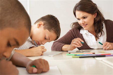 simsearch:600-01184690,k - Students and Teacher Drawing in Classroom Stock Photo - Premium Royalty-Free, Code: 600-01184737