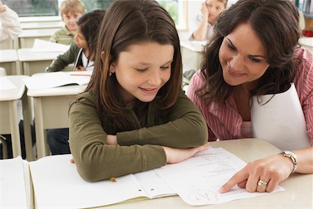 Students and Teacher in Classroom Stock Photo - Premium Royalty-Free, Code: 600-01184730