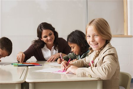 simsearch:600-01184690,k - Students and Teacher Drawing in Classroom Stock Photo - Premium Royalty-Free, Code: 600-01184745