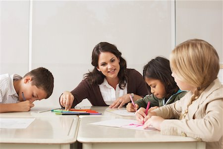 simsearch:600-01184690,k - Students and Teacher in Classroom Stock Photo - Premium Royalty-Free, Code: 600-01184746