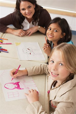 simsearch:600-01184690,k - Students and Teacher Drawing in Classroom Stock Photo - Premium Royalty-Free, Code: 600-01184747