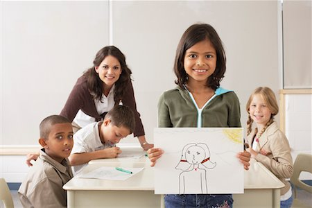simsearch:600-01184690,k - Students and Teacher Drawing in Classroom Stock Photo - Premium Royalty-Free, Code: 600-01184749