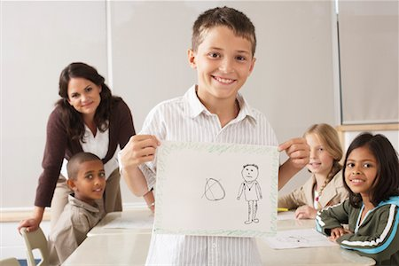 simsearch:600-01184690,k - Students and Teacher Drawing in Classroom Stock Photo - Premium Royalty-Free, Code: 600-01184750